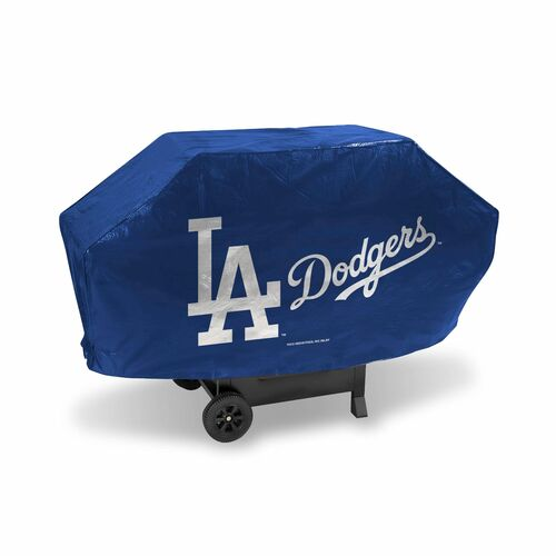 "68"" x 35"" Silver Colored and Blue MLB Los Angeles Dodgers Deluxe Grill Cover - IMAGE 1"