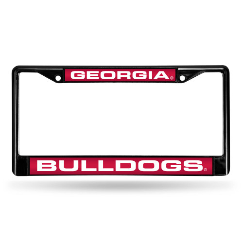"6"" x 12"" Pink and White College Georgia Bulldogs License Plate Cover - IMAGE 1"