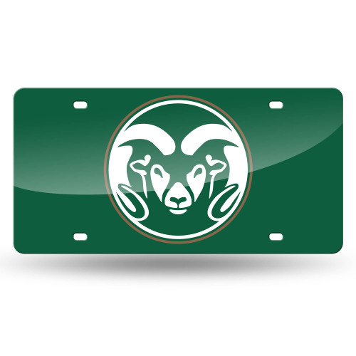 """6"""" x 12"""" Green and White College Colorado State Rams Tag - IMAGE 1"""