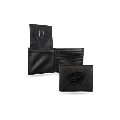 "4"" Black NHL Columbus Blue Jackets Billfold Wallet - IMAGE 1"