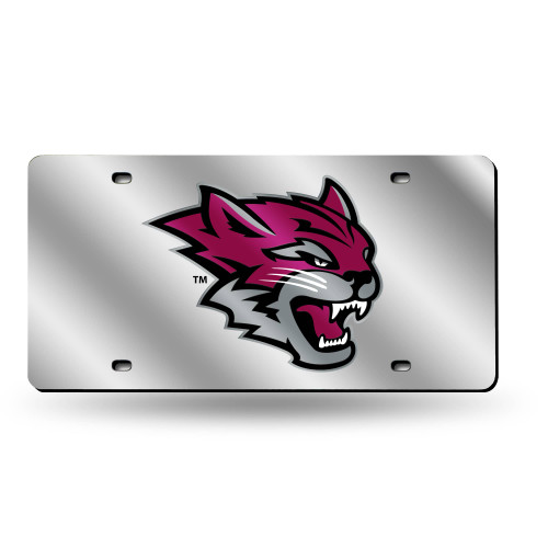 """6"""" x 12"""" Pink and Gray College California State Chico Wildcats Tag - IMAGE 1"""