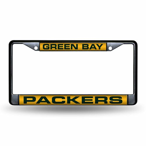 """6"""" x 12"""" Yellow and Silver Colored NFL Green Bay Packers License Plate Cover - IMAGE 1"""