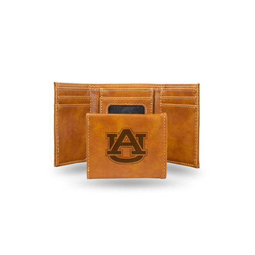 "4"" Brown College Auburn Tigers Trifold Wallet - IMAGE 1"