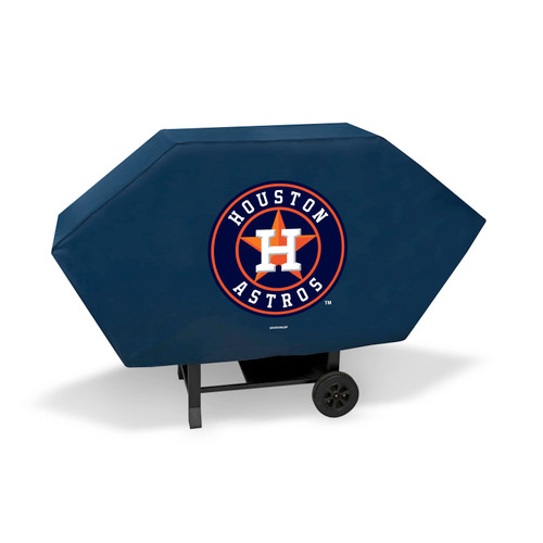 """68"""" x 35"""" Blue and Orange MLB Houston Astros Executive Padded Grill Cover - IMAGE 1"""