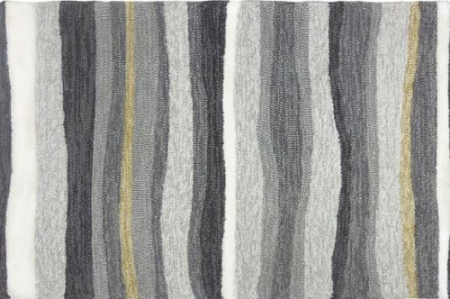 3' x 5' Gray and White Driftwood Inspired Indoor/Outdoor Area Rug - IMAGE 1