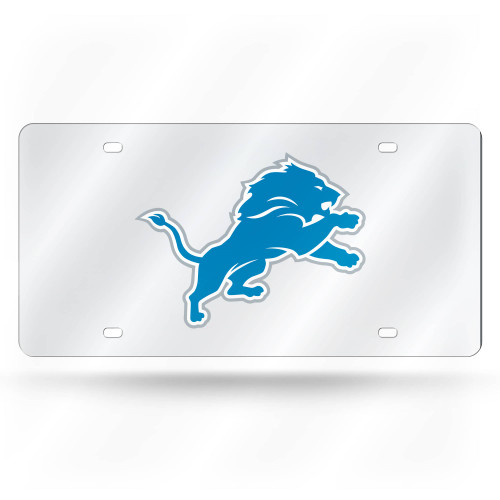 """6"""" x 12"""" Blue and Silver Colored NFL Detroit Lions Tag - IMAGE 1"""