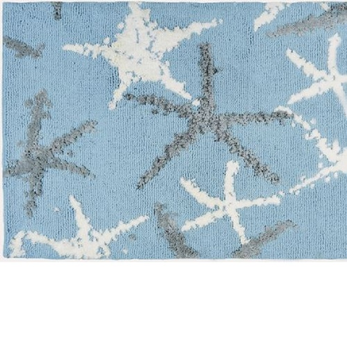 5' x 7' Blue, White and Gray Tranquil Seas Rectangular Indoor Accent Rug - IMAGE 1