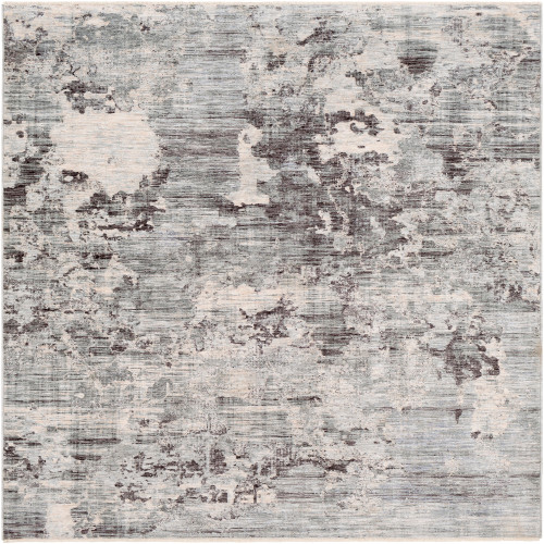 3.25' x 5' Distressed Ivory and Mocha Brown Rectangular Area Throw Rug - IMAGE 1