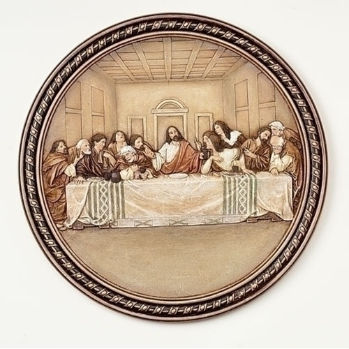 "Pack of 2 Joseph's Studio Decorative Last Supper Plate 10.5"" - IMAGE 1"