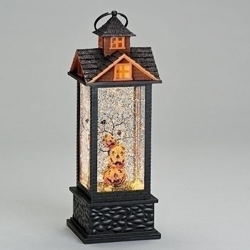 "11.75"" LED Lighted House Lantern Jack-O – Battery Operated - IMAGE 1"
