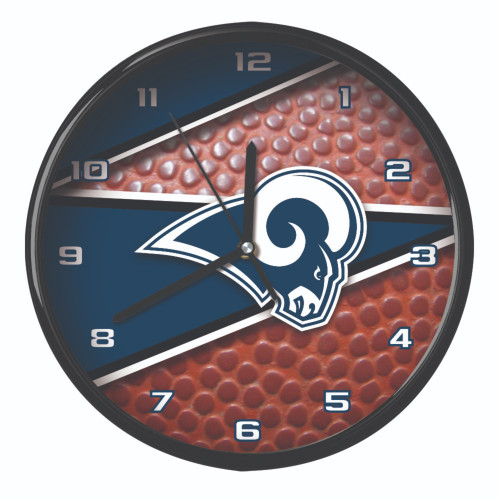 """11.5"""" Blue and White NFL Los Angeles Rams Wall Clock - IMAGE 1"""