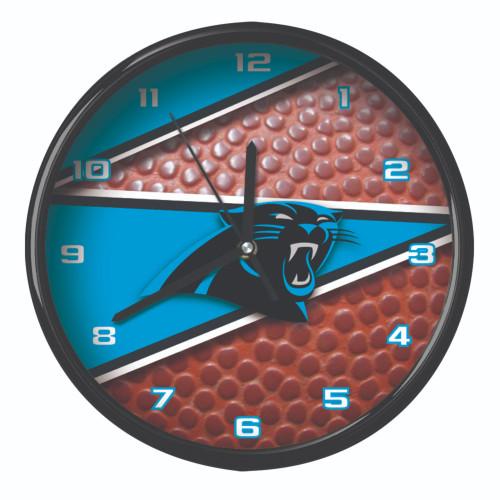 "11.5"" Blue and White NFL Carolina Panthers Wall Clock - IMAGE 1"