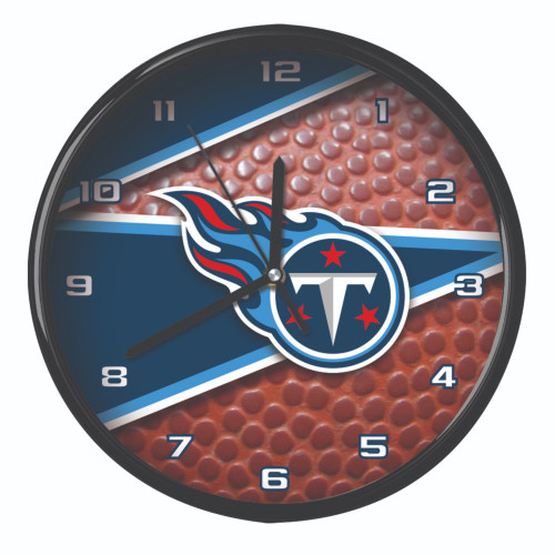 """11.5"""" Blue and White NFL Tennessee Titans Wall Clock - IMAGE 1"""