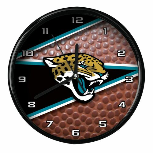 "11.5"" Black and Brown NFL Jacksonville Jaguars Wall Clock - IMAGE 1"