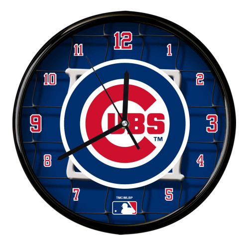 """11.5"""" Blue and Red MLB Chicago Cubs Net Wall Clock - IMAGE 1"""