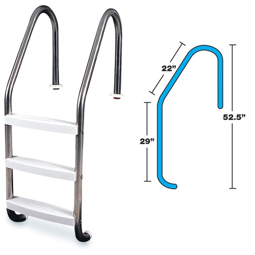 Stainless Steel Ladder Standard, 58-Inch - IMAGE 1