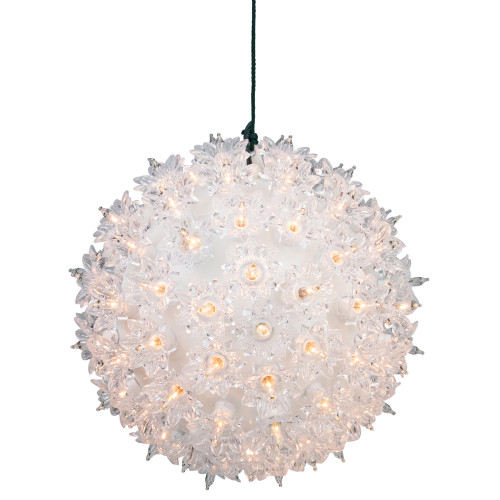 """Clear Twinkling Lighted Hanging Starlight Sphere Outdoor Christmas Decoration 7.5"""" - IMAGE 1"""