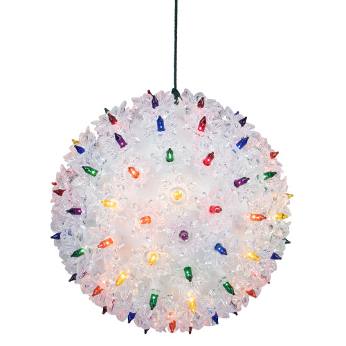 """Multi Colored Twinkling Lighted Hanging Starlight Sphere Outdoor Christmas Decoration 7.5"""" - IMAGE 1"""