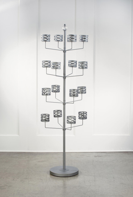 """69"""" Gray and Silver 16 Arms Hat Tree Display Stand - IMAGE 1"""