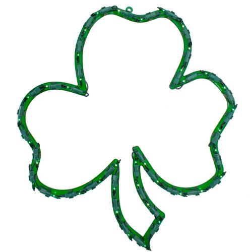 "17"" Lighted St.Patrick's Day Irish Shamrock Window Silhouette Decoration - IMAGE 1"
