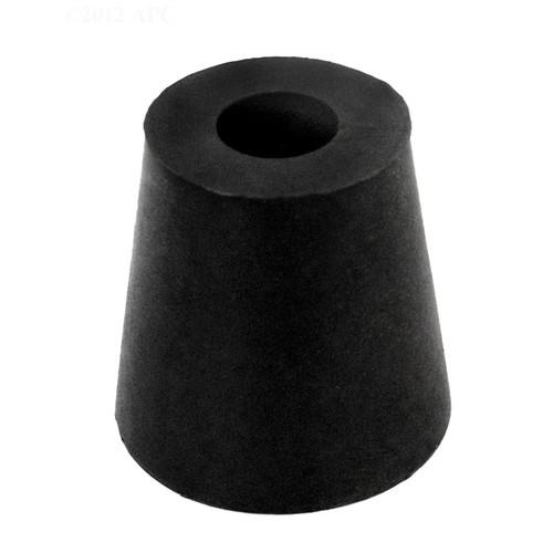 "1""  Black Rubber Cord Stopper Seals Pool Light Conduit - IMAGE 1"