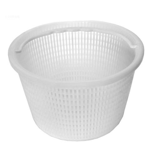 White Plastic Basket with Hanger for Concrete Skimmer - IMAGE 1