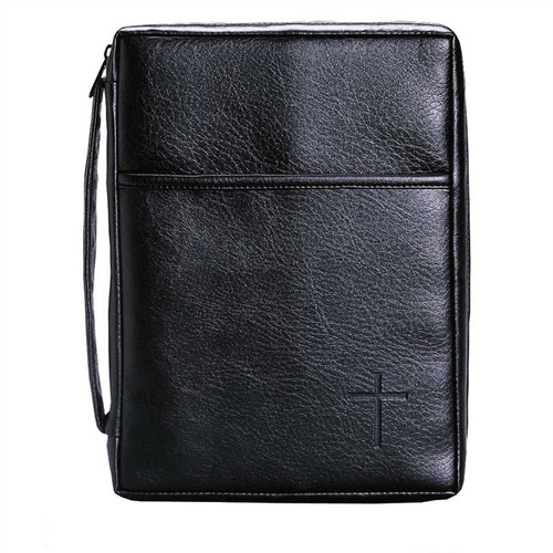 """7.5"""" Black XLG Religious Bible Book Cover - IMAGE 1"""