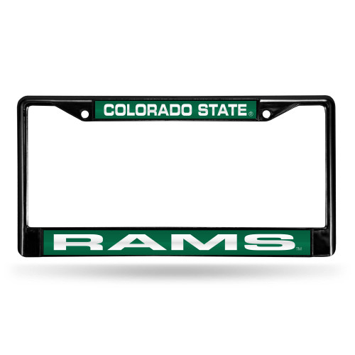 """6"""" x 12"""" Green and Black College Colorado State Rams License Plate Cover - IMAGE 1"""
