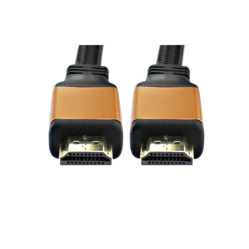 "6"" Black and Gold High Quality Male to Male HDMI Cable with 1.4 Ethernet - IMAGE 1"