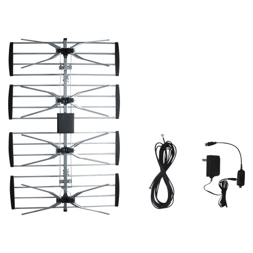 """32.5"""" Silver Electronic Master Outdoor TV Antenna with Booster and CUL Approval Adaptor - IMAGE 1"""