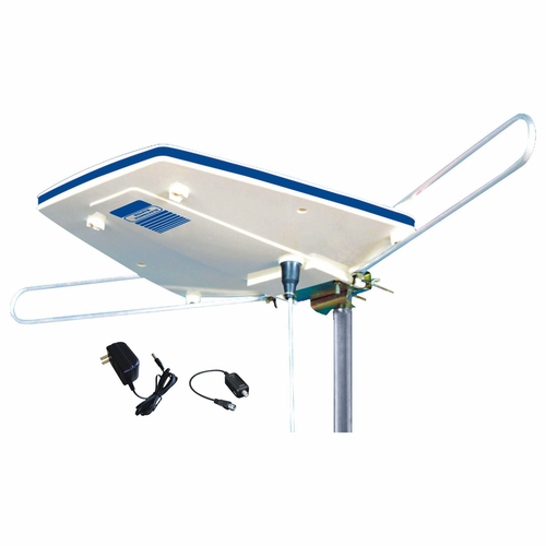 """26.75"""" White and Blue Electronic Master Digital Outdoor Amplified HDTV Antenna - IMAGE 1"""