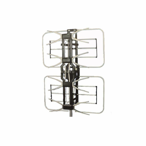 "31.5"" Silver and Black Remote Controlled Rotating Digital Outdoor Amplified HDTV Antenna - IMAGE 1"