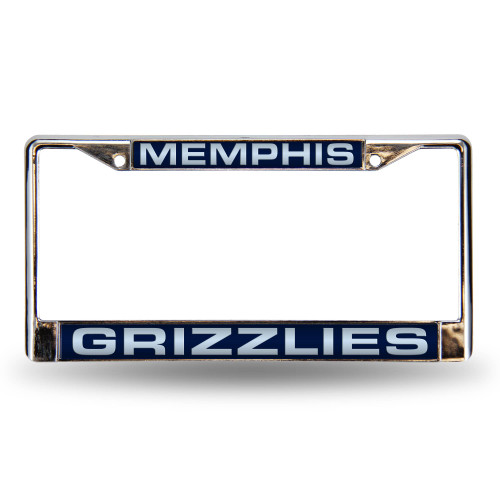 "6"" x 12"" Gray and Blue NBA Memphis Grizzlies License Plate Cover - IMAGE 1"