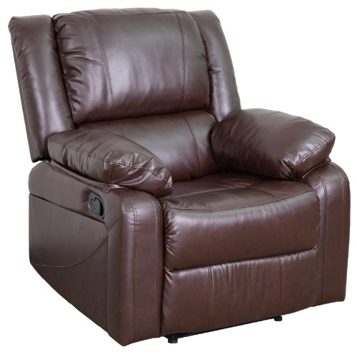 """64"""" Brown Contemporary Harmony Series Comfortable Recliner - IMAGE 1"""