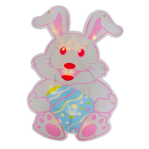 """14"""" Battery Operated LED Lighted Easter Bunny Window Silhouette - IMAGE 1"""