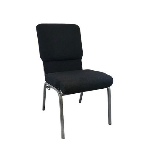 "35"" Black Multipurpose Church Chair with Book Rack - IMAGE 1"