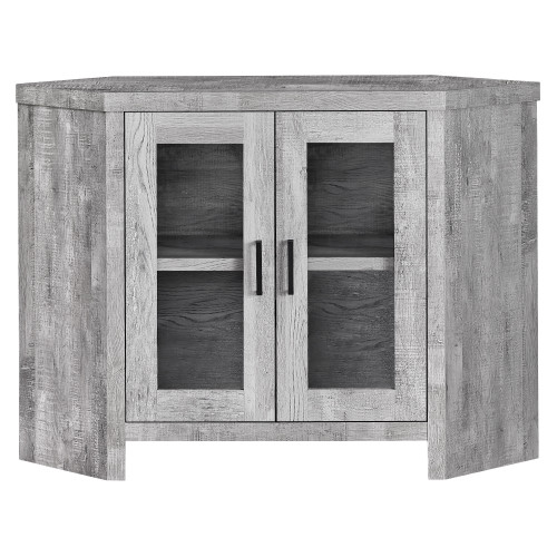 "42"" Gray Reclaimed Wood-Look Corner TV Stand - IMAGE 1"