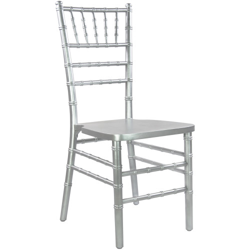 """36"""" Silver Wooden Stackable Traditional Chiavari Chair - IMAGE 1"""