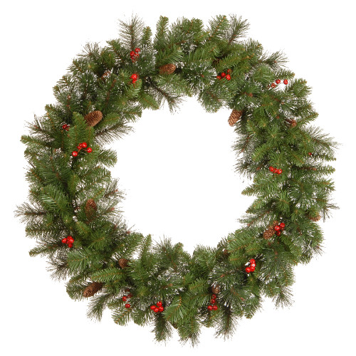 Crestwood Spruce Artificial Christmas Wreath - 36-Inch, Unlit - IMAGE 1