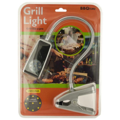 """Pack of 2 Silver and Black Barbecue LED Grill Lights with Clip 4.25"""" - IMAGE 1"""