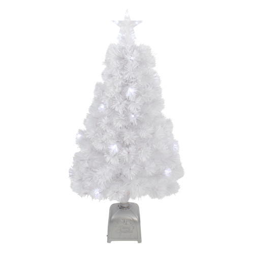 3' Pre-Lit LED Color Changing White Fiber Optic Artificial Christmas Tree - IMAGE 1