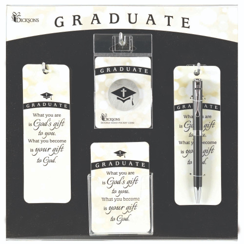 """13"""" White and Black Graduate Display and Assortment Board - IMAGE 1"""