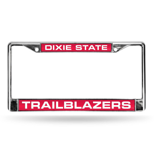 """6"""" x 12"""" Red and White College Dixie State Trailblazers Rectangular License Plate Cover - IMAGE 1"""