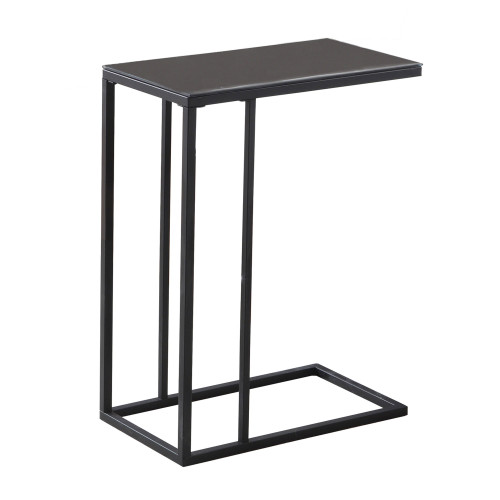"""24"""" Black Contemporary Rectangular Accent End Table - IMAGE 1"""