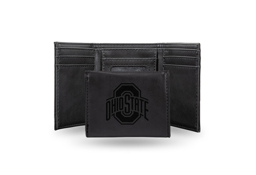 """4"""" Black College Ohio State Buckeyes Trifold Wallet - IMAGE 1"""
