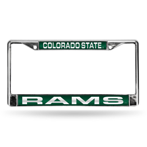 """6"""" x 12"""" Green and White College NCAA Colorado State Rams Rectangular Green License Plate Cover - IMAGE 1"""