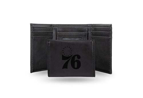 "4"" Black NBA Philadelphia 76ers Trifold Wallet - IMAGE 1"