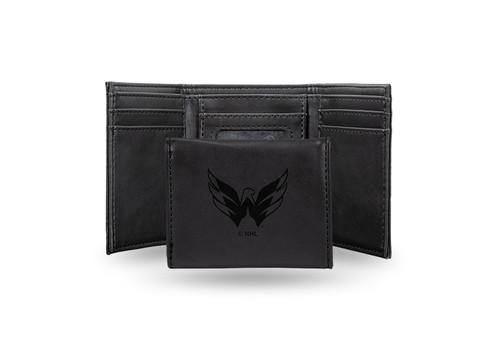 "4"" Black NHL Washington Capitals Trifold Wallet - IMAGE 1"