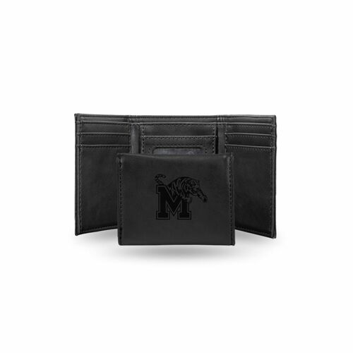 """4"""" Black College Memphis Tigers Trifold Wallet - IMAGE 1"""