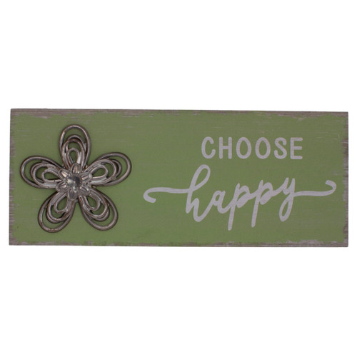 """10"""" Distressed Green Choose Happy Table Block - IMAGE 1"""